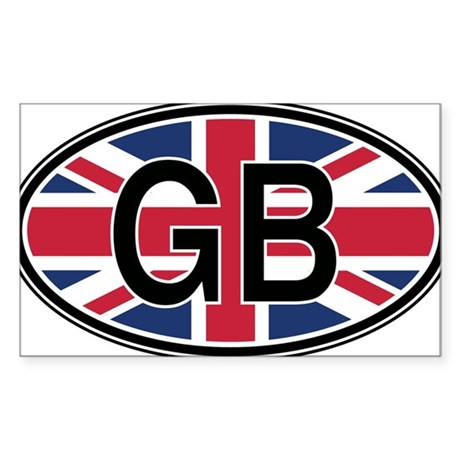 Great Britain Euro Oval Sticker Sticker