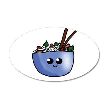 Chibi Pho v2 35x21 Oval Wall Decal