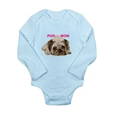 pug mom Long Sleeve Infant Bodysuit