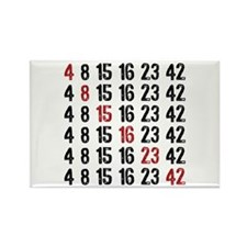 Lost Numbers Square Rectangle Magnet (10 pack)