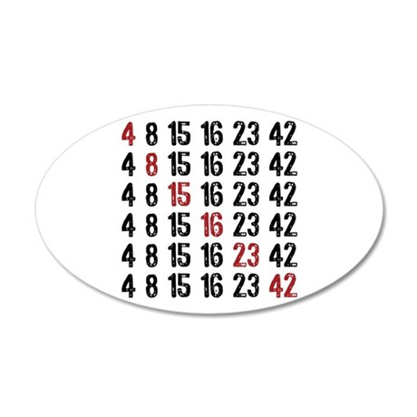 Lost Numbers Square 20x12 Oval Wall Decal