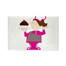 Born Cupcake Baker Rectangle Magnet