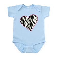 Zebra Heart Infant Bodysuit