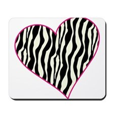 Zebra Heart Mousepad
