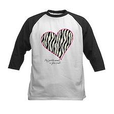 Zebra Print Heart Tee