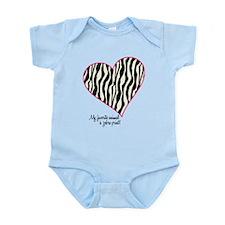 Zebra Print Heart Infant Bodysuit