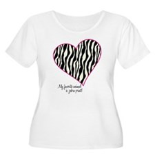 Zebra Print Heart T-Shirt