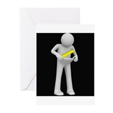 Condom Size Dude Greeting Cards (Pk of 10)