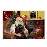 Santa's Black Cocker Postcards (Package of 8)
