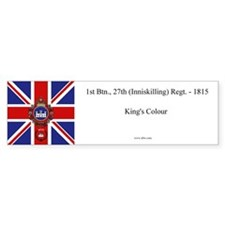 27th King's Colour Bumper Bumper Sticker