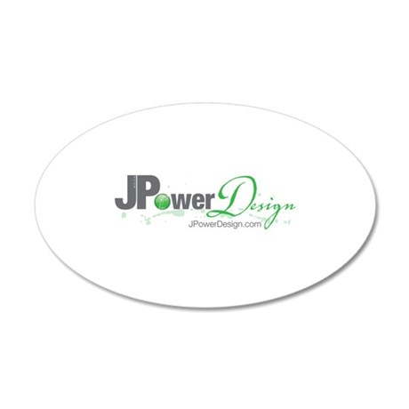 JPowerDesign 35x21 Oval Wall Decal