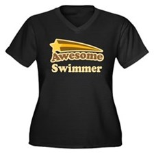 Awesome Swimmer gift Women's Plus Size V-Neck Dark