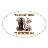 We Are Not Here Oval Decal