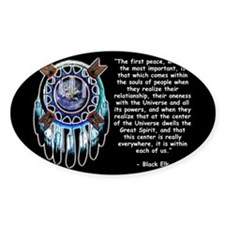 Black Elk Quote Rectangle Decal