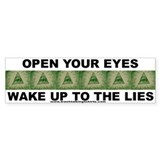 Open Your Eyes Bumper Bumper Sticker