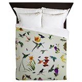 Hummingbirds of the Americas Queen Duvet
