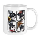 Four Schnauzers Mug