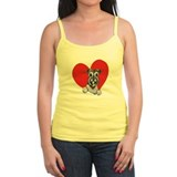 Schnauzer in Heart Ladies Top