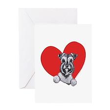 Schnauzer in Heart Greeting Card