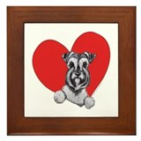 Schnauzer in Heart Framed Tile