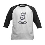 White Schnazuer Paws Up Tee