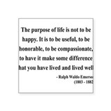 Ralph Waldo Emerson 17 Rectangle Sticker