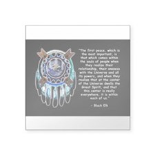 Black Elk Quote Rectangle Sticker
