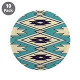 "Native Chieftain Pattern 3.5"" Button (10 pack"