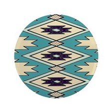 "Native Chieftain Pattern 3.5"" Button"