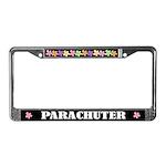 Parachuter License Plate Frame Gift