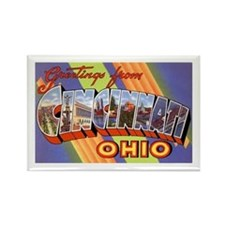 Cincinnati Ohio Greetings Rectangle Magnet (10 pac