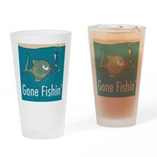 Gone Fishin, Funny Fishing Drinking Glass