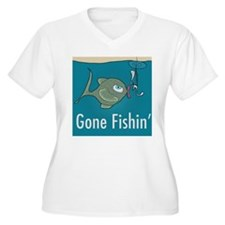 Gone Fishin, Funny Fishing T-Shirt