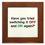 Switch On/Off. Framed Tile