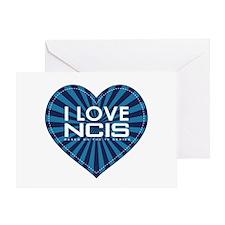 I Love NCIS Greeting Card