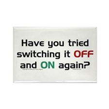 Switch On/Off. Rectangle Magnet (100 pack)