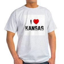 I * Kansas Ash Grey T-Shirt