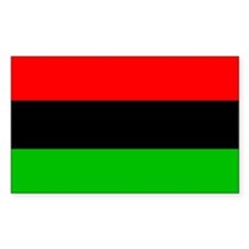 African-American Flag Rectangle Decal