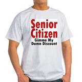 Senior Citizen Discount Ash Grey T-Shirt