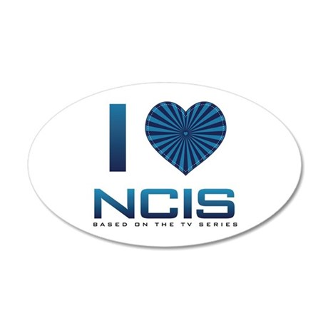 I Heart NCIS 35x21 Oval Wall Decal