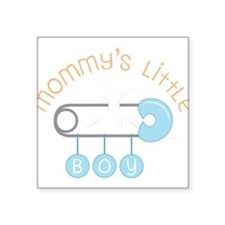 "Mommy's Little Boy Square Sticker 3"" x 3"""