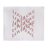 Love Cross Throw Blanket
