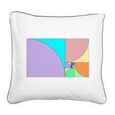 Golden Ratio Square Canvas Pillow