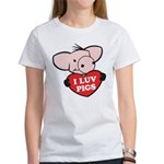 I Love Pigs Women's T-Shirt