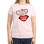 I Love Pigs Women's Light T-Shirt