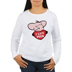 I Love Pigs Women's Long Sleeve T-Shirt