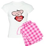 I Love Pigs Women's Light Pajamas