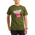 I Love Pigs Organic Men's T-Shirt (dark)