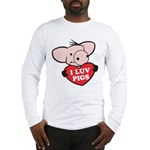 I Love Pigs Long Sleeve T-Shirt