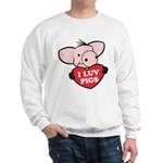 I Love Pigs Sweatshirt